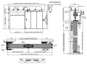 Porte coulissante coupe feu rail inclin industrimat - Porte coupe feu coulissante automatique ...