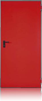 porte rouge à un vantail