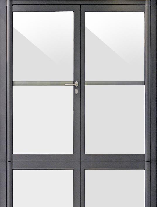 porte vitrée sur pivots forster