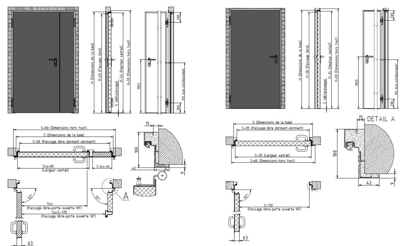 porte coupe feu 1h industrimat fermetures. Black Bedroom Furniture Sets. Home Design Ideas
