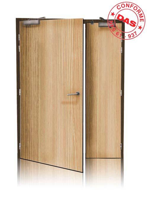 Porte coupe feu bois 1 2h industrimat fermetures for Porte de garage coupe feu