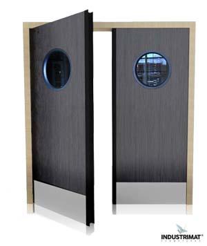 porte coupe feu bois industrimat fermetures. Black Bedroom Furniture Sets. Home Design Ideas