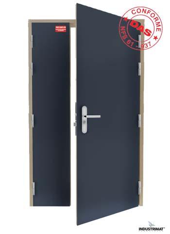 Porte coupe feu bois 1h simple action industrimat fermetures - Porte coupe feu 1h ...