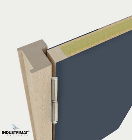 porte coupe feu 1h bois simple action avec huisserie bois