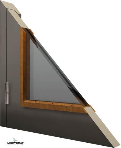porte coupe feu bois vitre detail 2